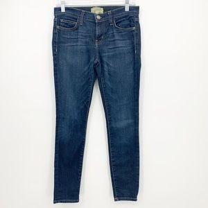 Current Elliott Skinny Jean Med Dark Wash Size 26